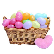 72 Piece Easter Egg Set In Assorted Colours - 5.1cm Easter Eggs - Pull Apart To Hide Charms, Candy & More - By Dazzling Toys