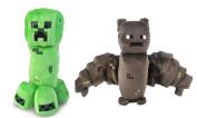 Minecraft Creeper and Bat Plush Set, 20cm