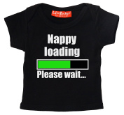 Nappy Loading Please Wait Funny Alternative 100% Supersoft Cotton Baby T Shirt Baby Gift