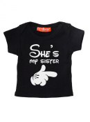Shes My Sister Disney Style Funny Alternative 100% Supersoft Cotton Baby T Shirt Baby Gift
