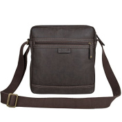 TLL003 Troop London Faux Leather Across Body Bag with Padded Compartment for Tablet - Chic Bag for Vegetarians