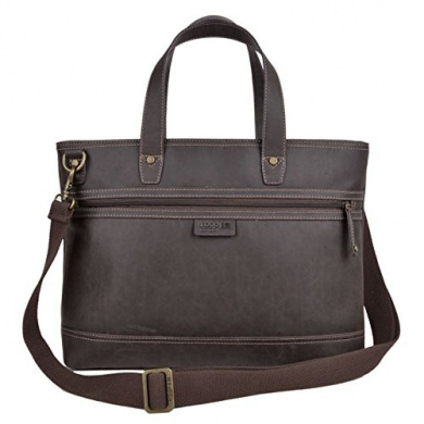 TLL002 Troop London Faux Leather Shoulder Bag with Double Top Handles - Chic Bag for Vegetarians