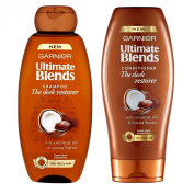 Garnier Ultimate Blends Shampoo and Conditioner Set The Sleek Restorer with Coconut Oil & Cocoa butter 400 ml