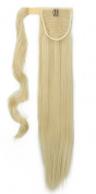 """New Fashion 24""""(60cm) Straight Bleach Blonde Wrap Around Ponytail Clip in Hair Extensions Extension hook and loop Strap Pony Tail Long Popluar Style"""