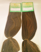 Silky Jumbro Braid - Braiding Hair made from 100% Japanese Synthetic Fibre - 2 Packets in Colour 1B/27