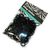 500pcs Hair Braiding Elastics Mini Small Rubber Bands Braid or Plait (BLACK).