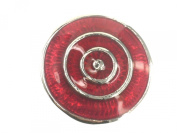 Click-It Button 18 mm Cross Design Red