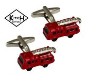 Fire Engine Cufflinks by Kitsch Cufflinks