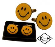 Kitsch Cufflinks : Smiley Face Novelty Cufflinks