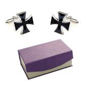 Black Cross Honour Cufflinks by Kitsch Cufflinks