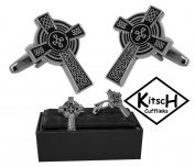 Kitsch Cufflinks : Celtic Cross Cufflinks Gift Boxed