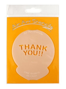 """"""" Thankyou Comic Splash 33cm Cupcake Stencil - Reusable Flexible Food Grade Plastic Stencil for Cake and Craft Design, Airbrushing and more"""