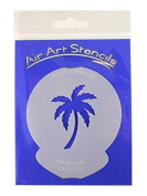 """"""" Surf Palm Tree """" Cupcake Stencil - Reusable Flexible Food Grade Plastic Stencil for Cake and Craft Design, Airbrushing and more"""