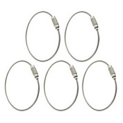Well-Goal 5pcs Outdoor Stainless Steel Wire Keyrings Keychains Screw Cable