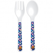 FC Barcelona Official Childrens/Kids Two Piece Cutlery Set (One Size)