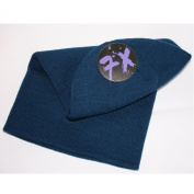 Plain Blue Slouchy Oversize Long Knitted Beanie Hat