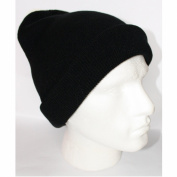 Plain Black Slouchy Oversize Long Knitted Beanie Hat