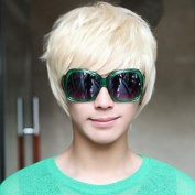 Hot New Popular High Quality Fashion Platinum Synthetic Short Blonde Man Wigs