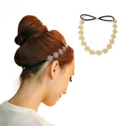 New Lovely Metallic Sweet Lady Hollow Rose Flower Elastic Hair Band Fashion Headbands