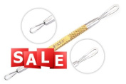 SC-1103-GLD Suvorna Ador Professional Whitehead Cleaner / Acne Remover & Comedone Extractor Gold Plated With Carrying Pouch