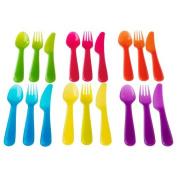 NewBorn, Baby, IKEA - KALAS Children Colourful 18 Piece Cutlery Set New Born, Child, Kid
