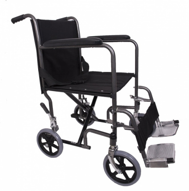 Angel Mobility Lightweight Folding Transit Transfer Travel Portable Wheelchair AMW0011 FREE FITTED WHEELCHAIR CUSHION RRP £19.95