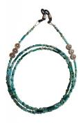 ShoreThing UK Spectacle/Glasses Chain Multi Green Tibetan Silver Daisy Flowers : 70cm - 80cm. Green/Silver