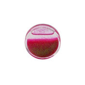 Gekko Body Jewellery Acrylic Tunnel Plug / Ear Stretcher with Pink Liquid Glitter - 14mm