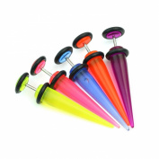 5pcs 16g 1.2mm UV Cheater Fake Ear Plug Tapers Stretchers Expanders Piercing