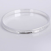 . Fashion Jewellery Classic 925 Solid Silver Bangle Bracelet