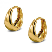Small Tapered Hoop Earrings Womens 9ct Gold Filled Small Huggie Hoop Earrings