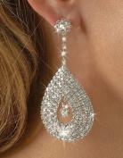 Bling Bling Diamante Earrings FAB Tear Drop Clear Crystal Dangle Earrings