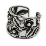 Elixir77UK Silver Colour Rose Flower Ear Cuff Clip On Wrap Cartilage Helix Non Pierced Earring UK SELLER