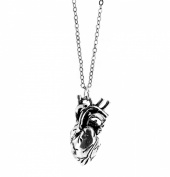 Anatomically Correct Human Heart Charm Necklace - Gift Boxed