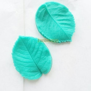 Sugarcraft Art All Purpose ROSE Flower vein foliage LEAF Double Veiner Fondant icing silicone icing leaves veiners mould, non stick Sugar paste, Butter, Resin, Polymer Clay, fimo, gum paste, PMC, Wax, Candle, Soap mould, 8*6.3cm thickness- around 1cm p ..