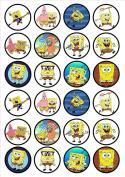 Spongebob Squarepants Edible Wafer Rice Paper 24 x 4.5cm Cupcake Toppers/Decorations