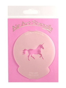 """"""" Unicorn """" Cupcake Stencil - Reusable Flexible Food Grade Plastic Stencil for Cake and Craft Design, Airbrushing and more"""