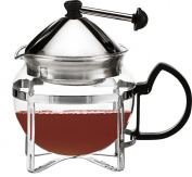 Perfect Brew Loose Tea Glass and Stainless Steel Teapot with Filter, 600ml CB-PB-600C