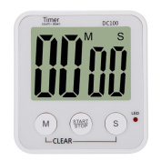 Anself LCD Digital Kitchen Cooking Countdown Timer Alarm Count Down Timer