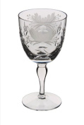 Royal Brierley Honeysuckle Goblet Wine Glass, Clear