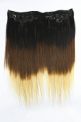 60cm Clip on in Brazilian Straight Hair Remy Human Virgin Hair Extensions T1b/4/27 7pcs 100g