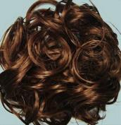 KATIE 18cm Pony Fastener Hair Scrunchie by Mona Lisa 30 Auburn