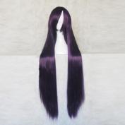 Baka to Tesuto to Shokanju Kirishima Shouko Deep Purple Black 100CM Long Cosplay Costume Wig + Free Wig Cap