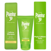 Plantur 39 Phyto-Caffeine Shampoo 250ml, Conditioner 150ml & Tonic 200ml | Coloured and Stressed Hair 250ml