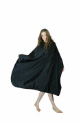 XMW Professional Water Repellent Hair Salon Nylon Cape Black