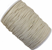 Rockin Beads Brand Off White 1.5mm Waxed Cotton Jewellery Macrame Craft Cord 80 Yards Wolven Round