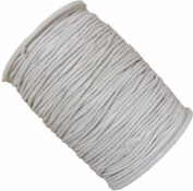 Rockin Beads Brand White 1.5mm Waxed Cotton Jewellery Macrame Craft Cord 80 Yards Wolven Round