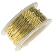 Artistic Wire, Bare Yellow Brass Craft Wire 22 Gauge, 8 Yard Spool