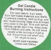 Gel Candle Burning Instruction Labels per 100