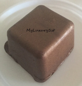 Colour 1.8-4.1kg of Melt and Pour Soap Mp Base with This Brown Glitter Shimmer Sparkle Sample Dye Block Melted Soaping Bar